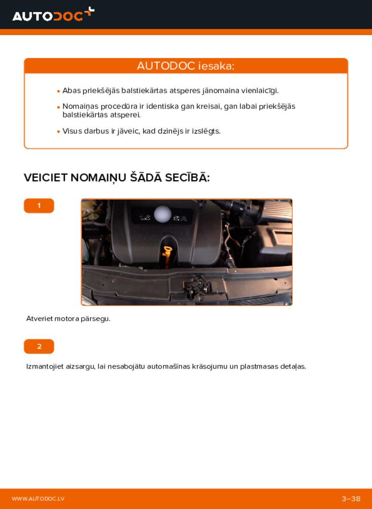 Kā veikt nomaiņu: 1.4 16V Golf 4 Piekare