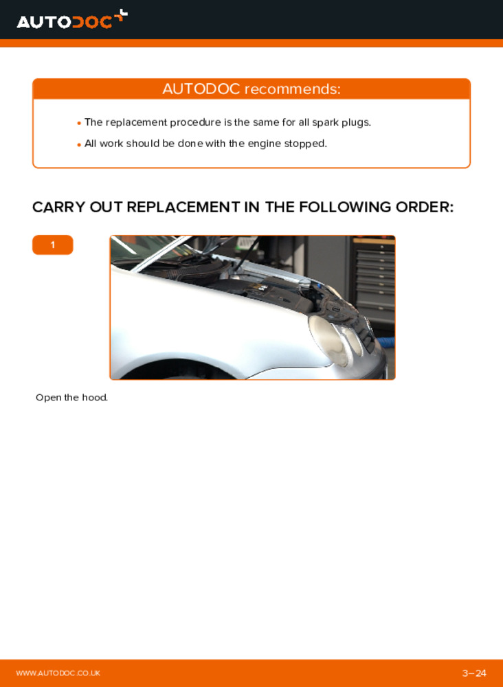 How to carry out replacement: Spark Plug on 1.4 16V Polo 9n