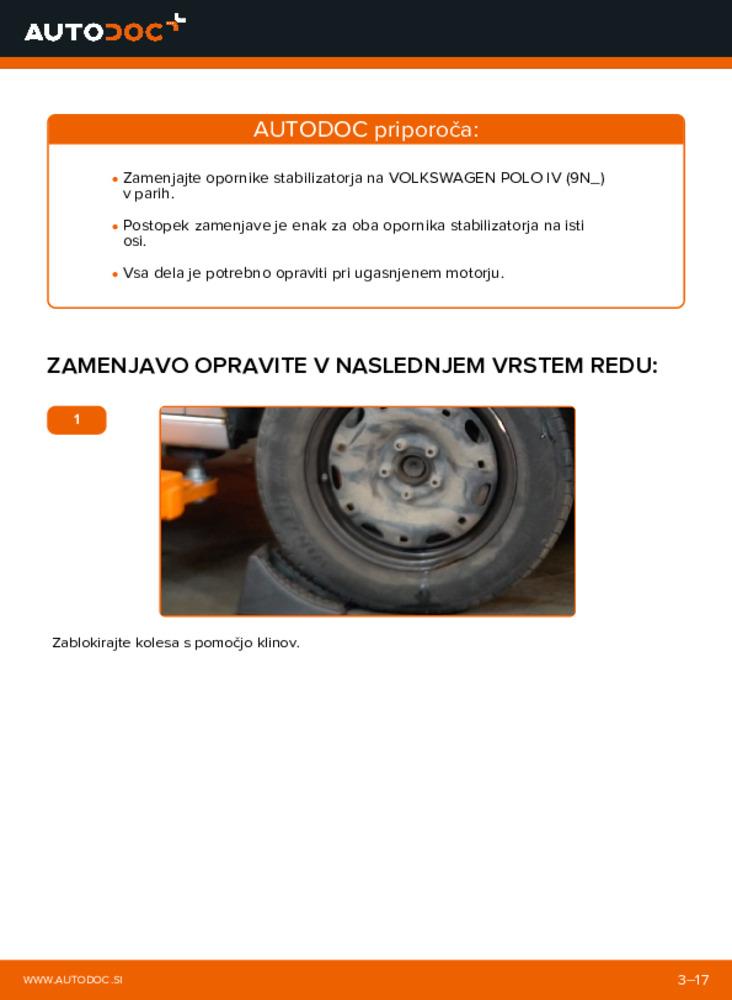 Kako izvesti menjavo: Koncnik na 1.4 16V Polo 9n