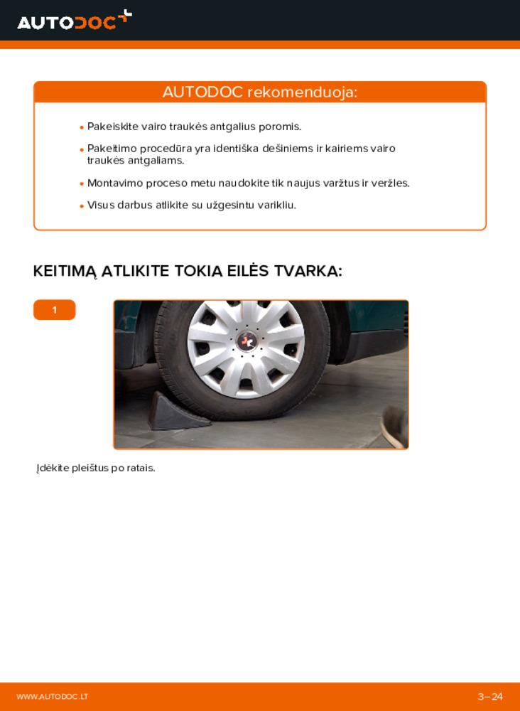 Kaip atlikti keitimą: 1.9 TDI Passat 3b6 Skersinės vairo trauklės galas