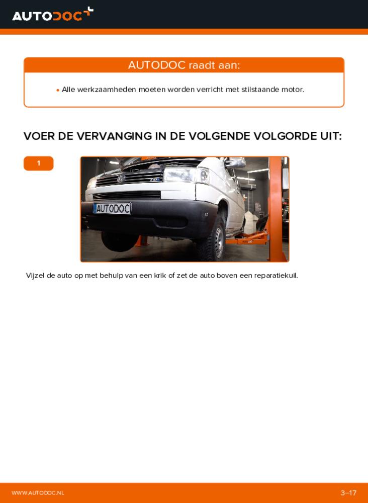 Vervanging uitvoeren: Motorsteun 2.5 TDI VW TRANSPORTER IV Bus (70XB, 70XC, 7DB, 7DW)