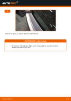 Ako vymeniť lištu zadného stierača na aute VOLKSWAGEN POLO IV (9N_)
