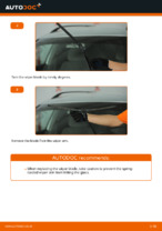 How to replace the front wiper blades on VOLKSWAGEN PASSAT B5 3B6