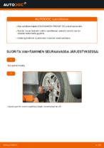 Pyöränlaakerisarja vaihto: VW PASSAT pdf oppaat
