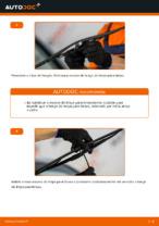 Como substituir as escovas do limpa para-brisa dianteiros em Opel Corsa C