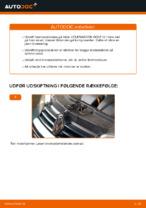 Hvordan bremseskiverne bag på VOLKSWAGEN GOLF IV udskiftes