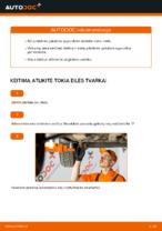 Automechanikų rekomendacijos OPEL Corsa C 1.0 (F08, F68) Amortizatoriaus Atraminis Guolis keitimui