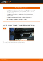 Skifte Bremseskiver VW POLO: værkstedshåndbog
