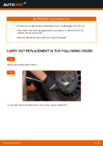 DIY VW change Wheel bearing kit rear and front - online manual pdf