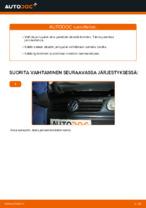 Kuinka vaihtaa ja säätää Jarrupalasarja VW POLO: pdf-opas