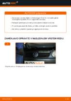 Kako zamenjati zavorne kolute na zadnjem delu pri Volkswagen Polo IV
