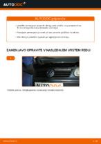 Kako zamenjati zadnje zavorne ploščice za kolutne zavore na Volkswagen Polo IV