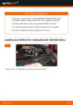 Kako zamenjati zavorne kolute na sprednjem delu pri VOLKSWAGEN PASSAT B5 (3BG, 3B6)