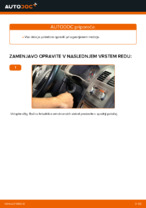 Menjava spredaj in zadaj Metlice brisalcev VW naredi sam - navodila pdf na spletu