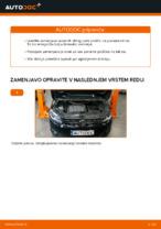 Menjava zadaj in spredaj Zavorne Ploščice VW naredi sam - navodila pdf na spletu