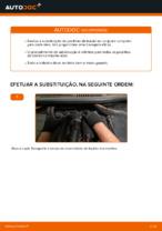 Como substituir pastilhas de travão traseiras do travão de disco de VOLKSWAGEN TOURAN I (1T3)