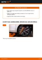 Asendamine Rattalaager VW GOLF: käsiraamatute