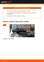 Kaip pakeisti priekinės pakabos spyruokles VOLKSWAGEN GOLF VI (5K1)