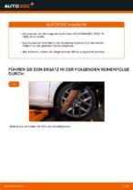 Wechseln von Radlagersatz Instruktion PDF für VW GOLF