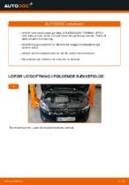 Hvordan bremseskiverne foran på VOLKSWAGEN TOURAN I (1T3) udskiftes