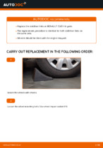 DIY manual on replacing Stabiliser link RENAULT CLIO II (BB0/1/2_, CB0/1/2_)