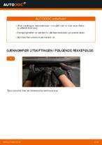 Hvordan skifte bakre bremseklosser på skivebrems på VOLKSWAGEN TOURAN I (1T3)