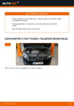 Hvordan skifte fremre bremseklosser på skivebrems på VOLKSWAGEN TOURAN I (1T3)
