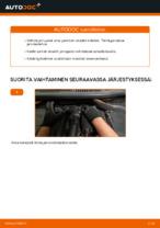 Kuinka vaihtaa ja säätää Jarrupalasarja VW TOURAN: pdf-opas