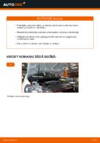 Kā nomainīt priekšējā amortizatora statnes balstu automašīnai VOLKSWAGEN GOLF VI (5K1)