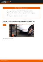 Hvordan man udskifter hjulleje i bag på VOLKSWAGEN GOLF VI (5K1)