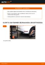 Kuinka vaihtaa takapyörännavan laakerit VOLKSWAGEN GOLF VI (5K1) malliin