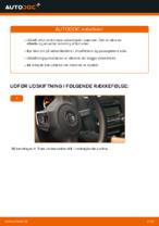 Udskiftning af Vinduesvisker: pdf vejledning til VW GOLF