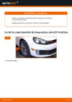 Kuinka vaihtaa ja säätää Tukivarsi VW GOLF: pdf-opas