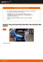 Αντικατάσταση Αμορτισέρ εμπρος PEUGEOT μόνοι σας - online εγχειρίδια pdf