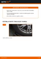 Kaip pakeisti galinio rato stebulės guolį AUDI A4 B6 (8E5)