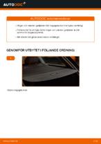 Laga Gasfjäder bakruta: pdf instruktioner för AUDI A4