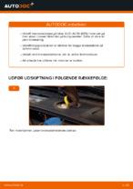 Hvordan bremseskiverne foran på AUDI A4 B6 (8E5) udskiftes