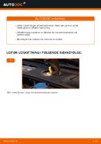 Hvordan man udskifter bremseklodser til skivebremser i for på AUDI A4 B6 (8E5)