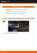Kuinka vaihtaa etujarrupalat levyjarruihin autoon AUDI A4 B6 (8E5)