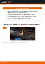 Kako zamenjati zavorne kolute na sprednjem delu pri AUDI A4 B6 (8E5)