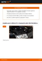 Kako zamenjati zavorne kolute na zadnjem delu pri AUDI A4 B6 (8E5)