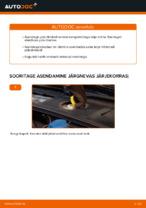 Kuidas vahetada esimesi piduriklotse või pidurikettaid autol AUDI A4 B6 (8E5)