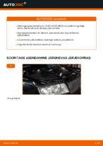 Kuidas vahetada ja reguleerida Piduriketas AUDI A4: pdf juhend