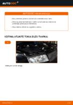 Kaip pakeisti priekinės pakabos amortizatoriaus statramstį AUDI A4 B6 (8E5)