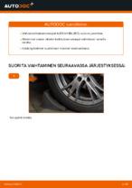 Miten etukallistuksenvakaaja vaihdetaan AUDI A4 B6 (8E5) -autoon