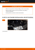 Kuinka vaihtaa etu-iskunvaimentimen jouset AUDI A4 B6 (8E5) malliin