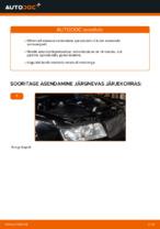 Kuidas vahetada esimesi suspensiooni vedrusid autol AUDI A4 B6 (8E5)
