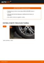 Kaip pakeisti priekinės pakabos stabilizatoriaus traukę AUDI A4 B6 (8E5)