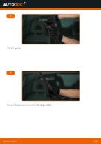 Come sostituire le spazzole anteriori del tergicristallo su TOYOTA RAV 4 II
