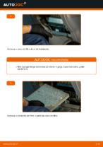 Como substituir um filtro de ar de habitáculo em TOYOTA RAV 4 II